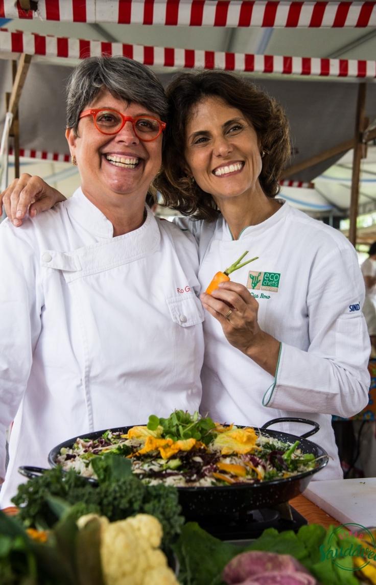 Chefs Ro Gouvêa e Ciça Roxo / Foto de Ana Carvalho