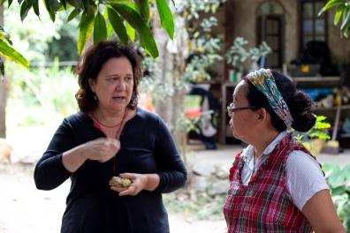 Chef Teresa Corção e agricultora Isabel Xavier / Foto de Simone Carrocino